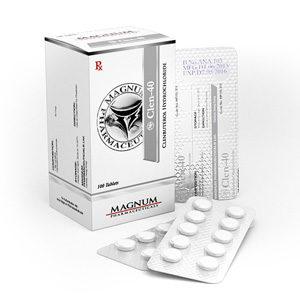 Köpa Clenbuterolhydroklorid (Clen) - Magnum Clen-40 Pris i Sverige